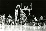 "Rear view of Maurice ""Bo"" Ellis shooting a jump shot, 1976"