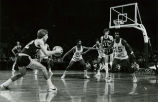 "Alfred ""Butch"" Lee and Lloyd Walton guard a Tulane University opponent, 1976"