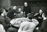 Father O' Donnell with Don Kojis and friends, 1958-1959