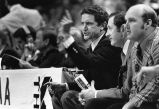 Al McGuire, Hank Raymonds, and Rick Majerus on the sidelines, 1977