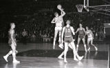 Don Kojis attempts a jump shot against South Dakota State, 1959