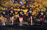 Dave Uhrich and teammates during cross-country practice, 1980-1983