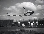 Ken Wiesner practices the high jump, 1944-1947