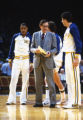 Hank Raymonds coaches Kerry Trotter and Marc Marotta, 1982-1983