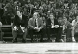 Hank Raymonds, Rick Majerus, Gerald Oliver, and Tom Hayden on the sidelines, 1978
