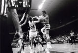 Maurice Lucas seeks to control ball during NCAA Championship game, 1974
