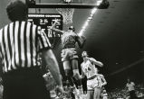 Maurice Lucas looks for a tip-in during the NCAA championship game, 1974