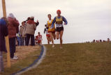 Keith Hanson runs downhill during the NCAA cross-country Championships, 1984