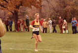 Keith Hanson running at CCC cross-country Championships, 1984