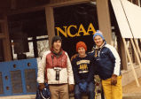 Donn Behnke, Keith Hanson and Jim Allen at NCAA cross-country race, 1985