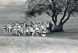 Keith Hanson leading the pack at a cross-country race, 1986