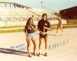 John Rydeski with a Memphis State University athlete, 1978-1981