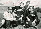 Coach Shimek with Abbot, Oetinger, and Viragh, 1960