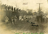 """Bus"" Shimek running cross-country race in Ann Arbor, 1925"