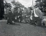 Frank J. Murray and football coaching staff, 1948