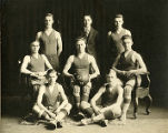 Frank J. Murray with St. Viator College's men's basketball team, 1918