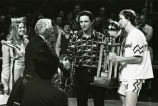 Al McGuire and Rick Campbell accept Milwaukee Classic trophy, 1974