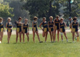 Women's cross-country team prior to race, 1982