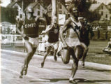 Ralph Metcalfe edges Jesse Owens in 100 meters, 1934