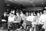 Students gather for Midnight Mass in Schroeder Hall, 1970-1971