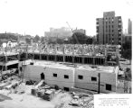 Schroeder Hall construction site, 1956