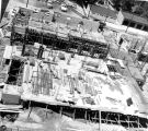 Aerial view, Schroeder Hall construction site