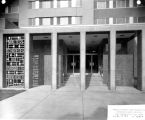 East entrance of Schroeder Hall, 1957