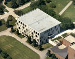 Aerial view of Lalumiere Language Hall