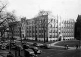Haggerty Hall as viewed from the corner of 16th Street and Wisconsin Avenue, circa 1945