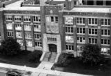 Bird's eye view of Haggerty Hall, 1973-1974