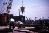 Workers construct the Haggerty Museum, 1984