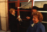 Ribbon cutting at dedication ceremony for the Haggerty Museum, 1984