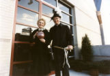 Beatrice Haggerty with John P. Raynor, S.J., at the Haggerty Museum dedication, 1984