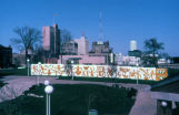 A graffiti mural by artist Keith Haring surrounds the Haggerty Museum of Art construction site,...