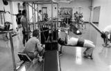 Weight room, Helfaer Recreation Center, 1984