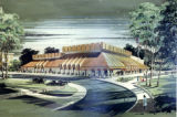 Architect's rendering of proposed Helfaer Theatre