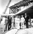 Sporting hard hats, a group of Association of Marquette University Women toured the Helfaer...