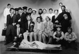 Cast of a student production of The Physicists, 1975