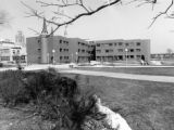 Coughlin Hall, as seen from the pedestrian mall to its west, 1978