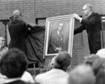 Unveiling of portrait of Charles  L. Coughlin, 1977
