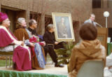 Coughlin Hall dedication ceremony, 1977