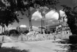 Demolition of Carpenter Hall takes place in preparation for the construction of Cudahy Hall, 1992