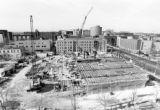 Cudahy Hall construction site, 1993