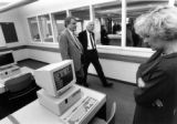 Tour of Cudahy Hall computer lab, 1994