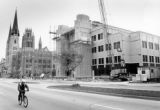 Cudahy Hall construction site as seen from Wisconsin Avenue, 1993