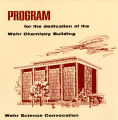 Cover, Program for the dedication of the Wehr Chemistry Building, 1967