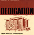 Program for the dedication of the Wehr Chemistry Building, 1967