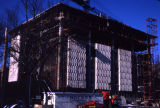 Wehr Chemistry Building during construction, 1965