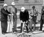 Groundbreaking ceremony for the Wehr Chemistry building, 1965
