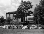 Wehr Chemistry Building, as seen from the landscaped campus mall to its east, 1972